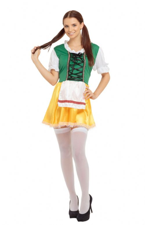 Ladies Beer Lady Costume Alcohol Pub Drink Fancy Dress Outfit